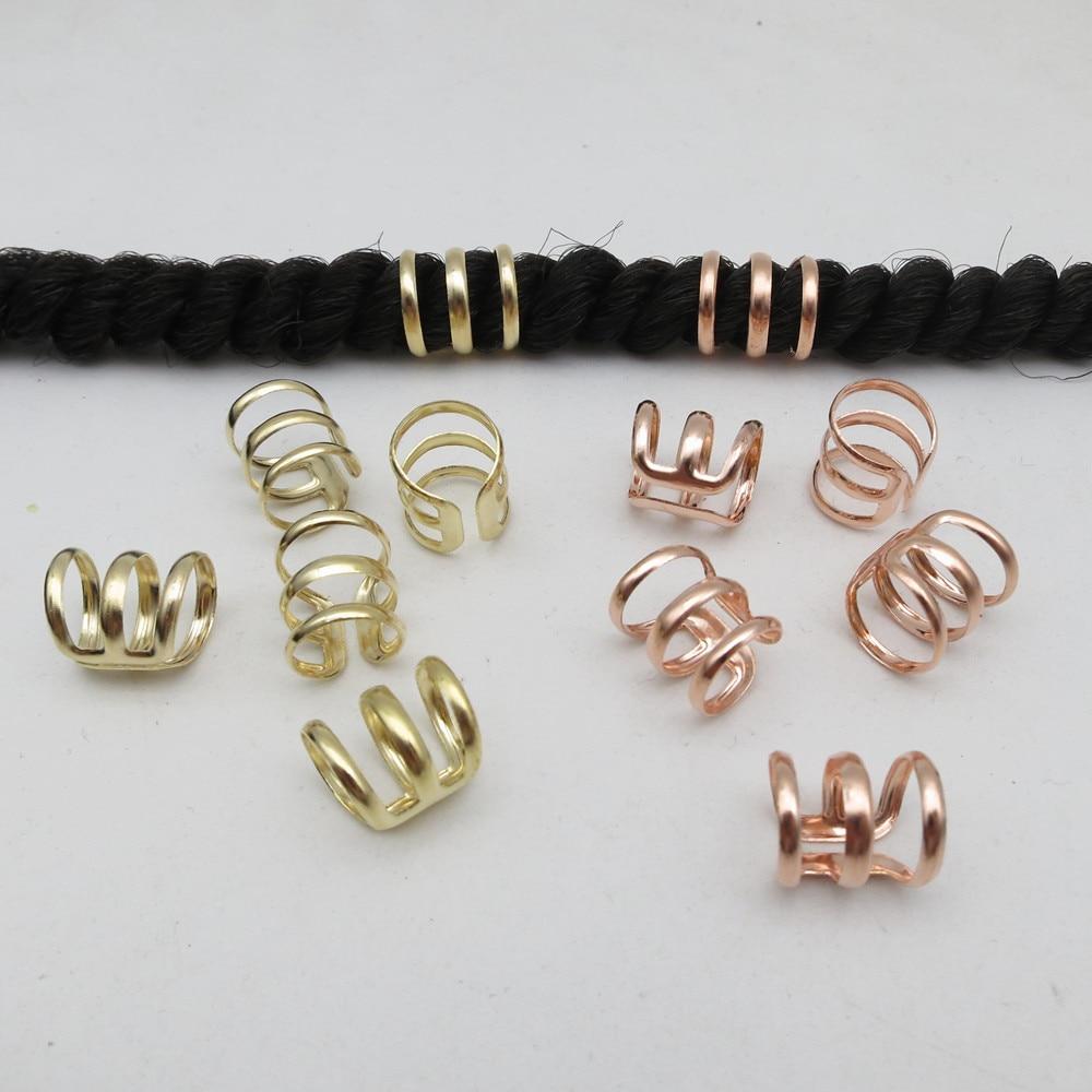 5Pcs 10pcs copper adjustable hair dread Braids dreadlock Beads cuffs clips for Hair accessories Links, Rings & Tubes  - AliExpress