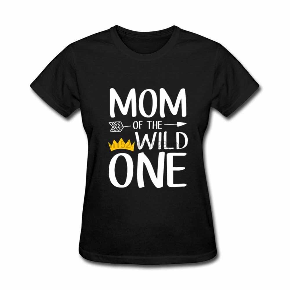 Dropshipping אמא של הפראי אחד נשים כתר דבר חולצה נשים אמא יום מתנות Camiseta Feminina הקיץ למעלה טי חולצה femme