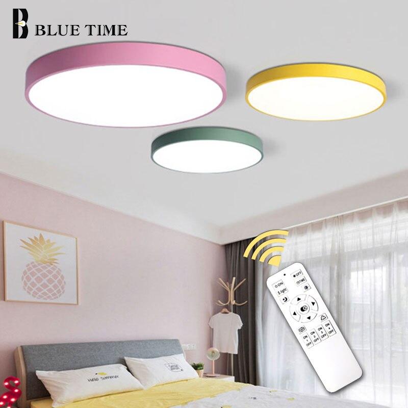 5cm Super Thin Ceiling Light for bedroom Living Room Bedroom Kitchen Surface Mount Remote Control ceiling lamp home lighting-in Ceiling Lights from Lights & Lighting