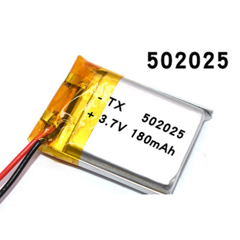 180 мАч 3,7 В 502025 литий-полимерный литий-ионный аккумулятор для динамик для игрушек тахограф MP3 MP4 GPS Bluetooth Lipo cell
