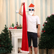 Extra long Christmas Hat New Year Party Gift Parent-child Santa Kids Adult Plush Hats props