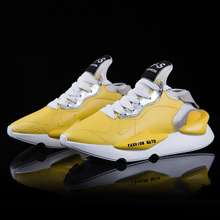 2019 Mens Sports Shoes Men Sneaker Elastic Fashion Couple Running Casual Zapatos De Hombre Leather
