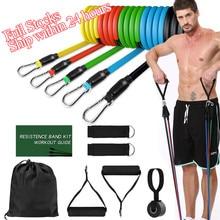 Faixas de resistência conjunto crossfit treinamento estiramento yoga exercícios de fitness banda borracha expansor tubos para casa ginásio pilates puxar corda