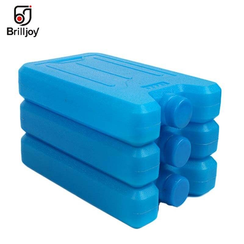 600ml Reusable Ice Brick Ice Block Ice Pack Cooler Milk Storage Camping Travel Fruit Cooler Box Portable Stay Fresh Ice Blocks