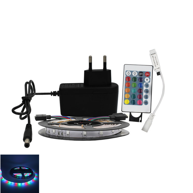 5m 10m Waterproof 2835SMD LED Flexible strip neon led rope light ribbon RGB Warm 12v DC One set with Adapter Controller