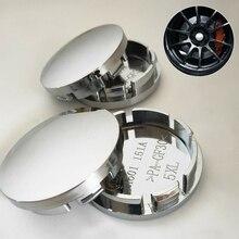 Vehicles Car Wheel Center Cap ABS Chrome 56mm Hub Rim Universal Silver