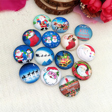 DIY Jewelry Accessories Series  of Santa Claus , Christmas tree ornaments jewelry accessories time gem glass paster