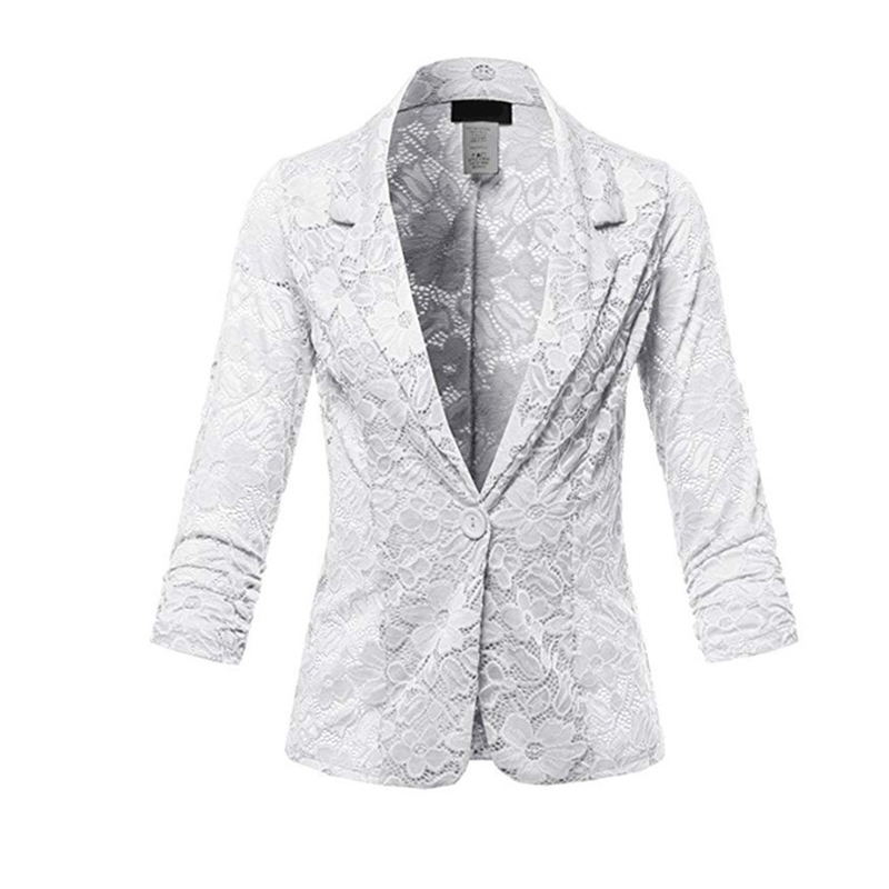 Fashion Office Women Blazers 2019 Spring Female Solid Color Lace Casual Suit Long Sleeve Women Clothes Blaser Feminino Clothes