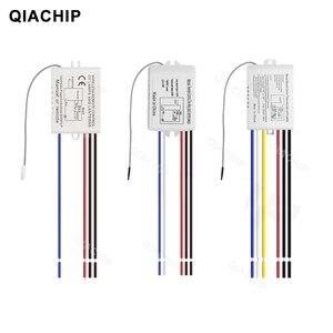 Image 2 - Qiachip 1/2/3 vias relé ac 220v rf remoto digital sem fio interruptor de controle remoto ventilador teto painel interruptor de controle para lâmpada