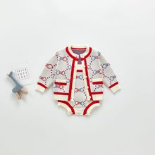Knitted Baby Clothes Cotton Bow Knot Newborn Baby