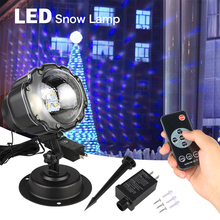 купить Magic LED RGB Stage Light LED Christmas Snowflake Projector Lamp Spotlight Birthday Halloween Wedding Projector Lights # в интернет-магазине