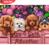 HUACAN Paint By Number Dog Animal Pictures By Number Kits Home Decoration DIY Gift Drawing On Canvas HandPainted Art