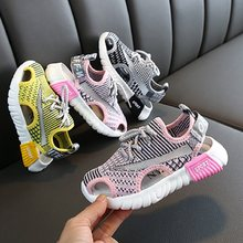 Girls Sports Sandals 2020 New Korean Spring Summer Kids Shoes Boys Mesh Beach Soft Sandals Girls Sneakers Boys Shoes Students(China)