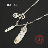925 Sterling Silver Necklace For Men Silver Claw Feather Charms Eagle Pendant Chain New Fine Jewelry P29