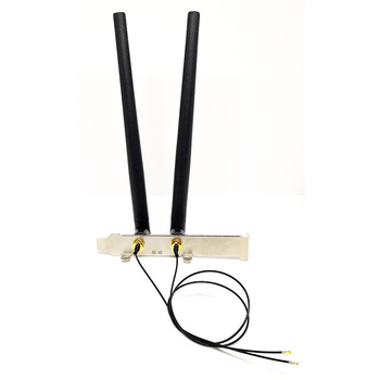 2 x 6dBi Dual Band M.2 IPEX MHF4 U.fl Cable to RP-SMA Wifi Antenna Set for Intel AX210 AX200 9560 8265 8260 7265 NGFF M.2 Card 1