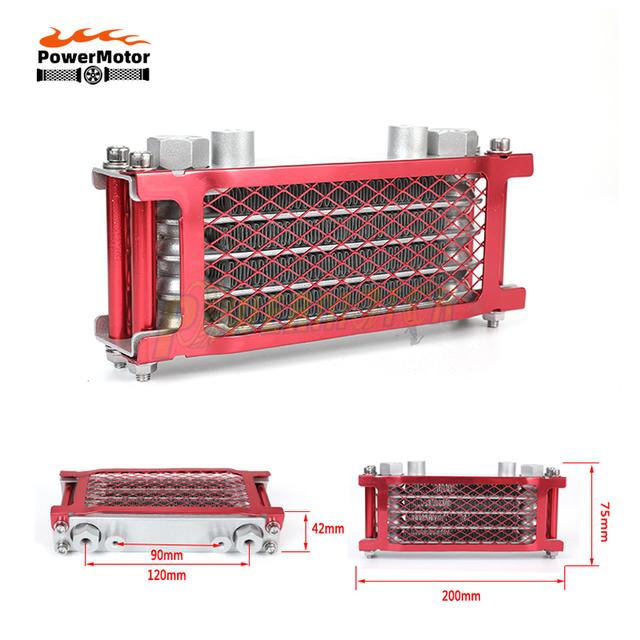 Motorrad Öl Kühlung Kühler Chinesische Made Kühler Ölkühler Set Für 50cc 70cc 90cc 110cc 125cc 140cc Horizontal Motor