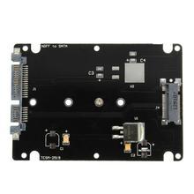 ממיר מתאם M.2 NGFF כדי 2.5 אינץ SATA SSD MSATA לsata מתאם כרטיס מקרה עבור מחשב מתאם M2 M שולחן העבודה שקע NGFF