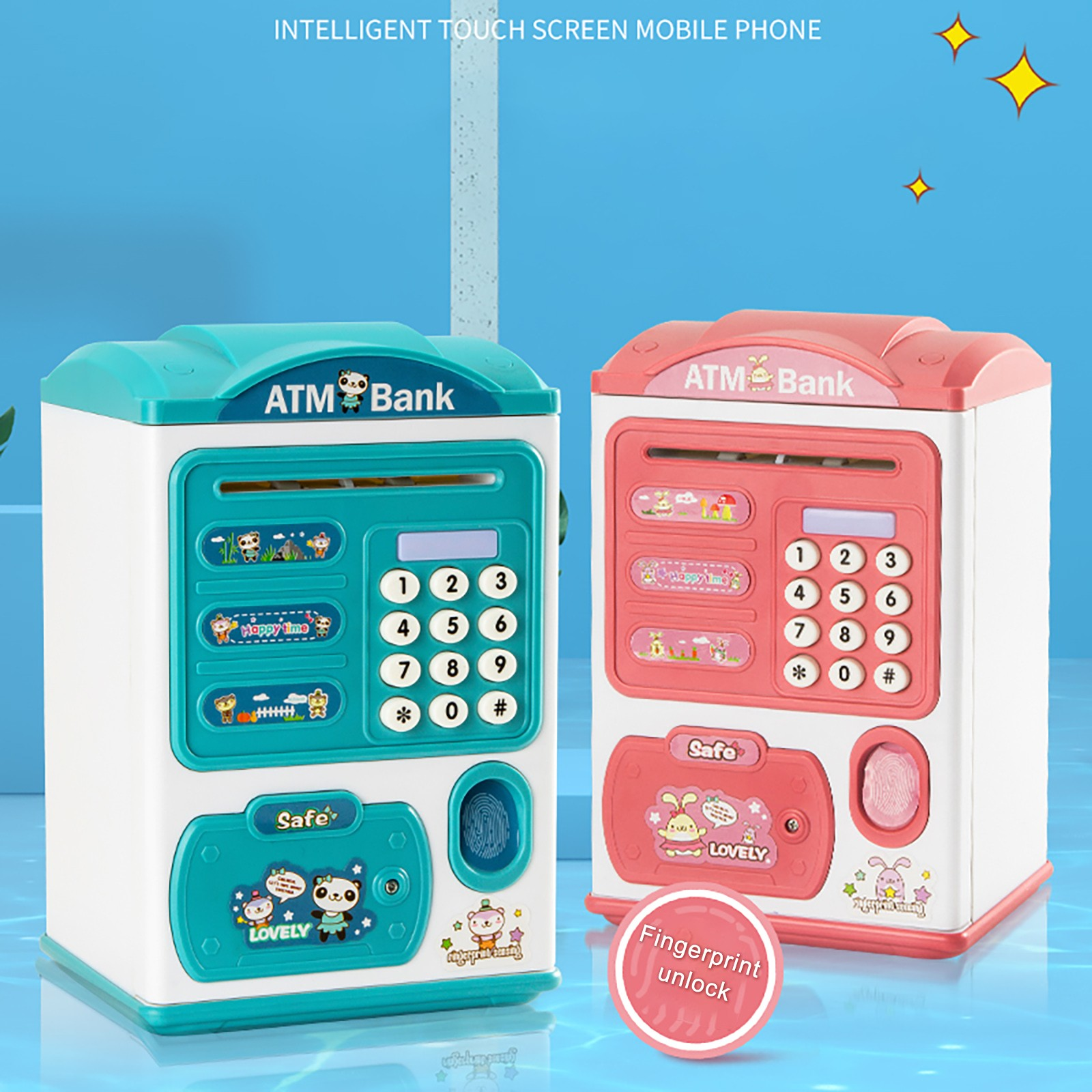 Banco de Ahorros de Banco de dinero electrónico de pergamino de papel de caja chico juguete de bebés, niños chico regalo новогодние товары