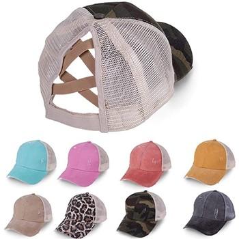 2020 kucyk czapka z daszkiem kobiety w trudnej sytuacji zmiękczana bawełna czapki w stylu Casual letnia czapka typu Snapback rondo czapki tirówki wysokiej jakości tanie i dobre opinie Dla dorosłych CN (pochodzenie) Poliester Unisex Na co dzień Adjustable Button Jeden rozmiar Patchwork Czapki z daszkiem