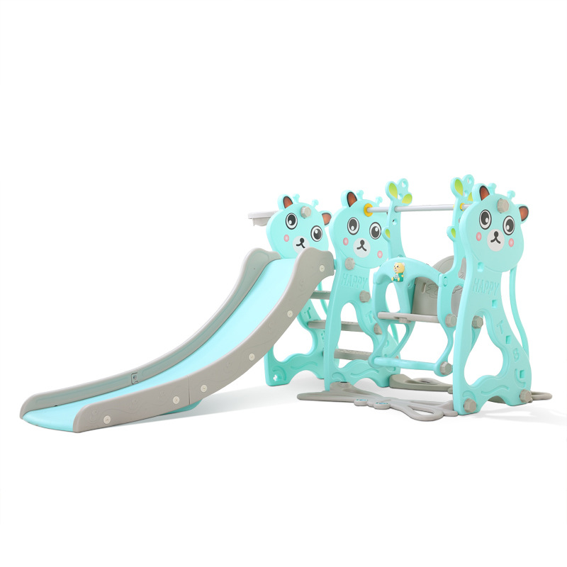 2020 Brand New Plastic Kids Slides And Swing Child Home Playground Plastic Slides Indoor Eco-friendly Slider With Swing+MP3
