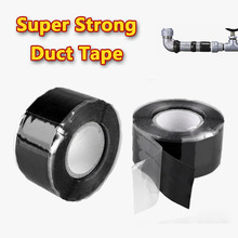 1.5M/ Waterproof Super Strong Duct Tape Silicone Rubber Fix Fiber Water Pipeline Scotch Pipe Repair Tape Adhesive Tape