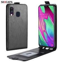 Vertical Flip Funda de cuero para Samsung A70 A70S A50 A50S A30 A30S A20 A10 A10S M30S M20 M10 A2 Core A6 A7 A8 A9 2018 cubierta del teléfono