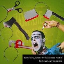 Halloween Decoration Headwear Funny Scary Hair Hoop Headband Decoration Terror Props Fake Blood Scene Y цена в Москве и Питере