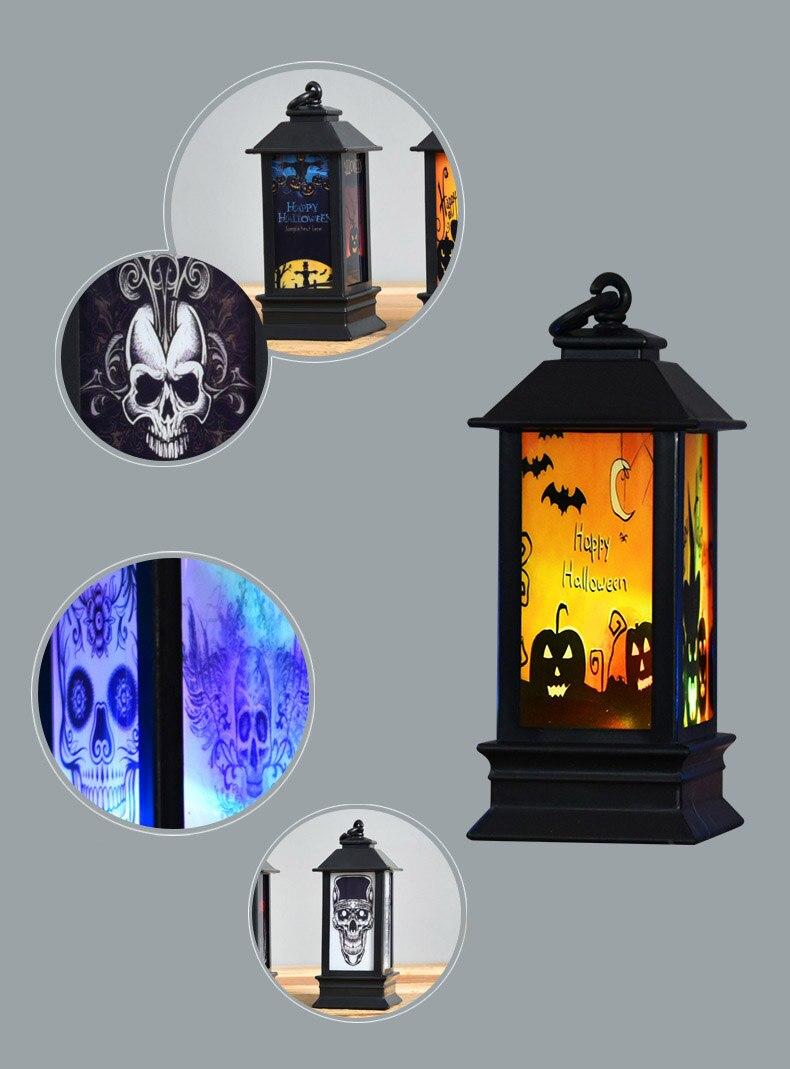 Halloween Pumpkin Light Creative Lamp Spider Home Decor Bat Pumpkin Lamp For Night Light Home Room Decor Colorful LED