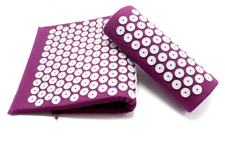 acupressure massage yoga mat pad, acupressure, nbsp, points, more, cushion, pillow, back, neck, relieve, convenient - Hb97dec28e4e84aeba64ff63bc7f9a0fc4 - Acupressure Massage Yoga Mat Pad - Fititudestore