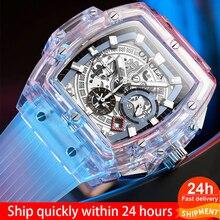 Men Watch Clock Quartz Sport Waterproof Gift Transparen Soft-Silicone Creative Hot-Sell
