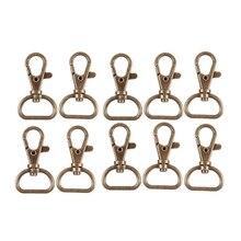 Бронзовый тон металлический ремешок для сумки орнамент ношение оснастки крюк 10 шт