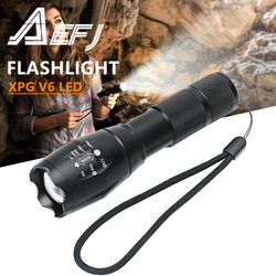 Led flashlight Ultra Bright torch T6/L2/V6 Camping light 5 switch Modes waterproof Zoomable Bicycle Light use 18650 AAA battery