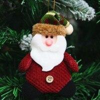 Claus Snowmen Christmas Pendant Drop Ornaments Christmas Tree Decorations Handmade Christmas Tree Ornaments Doll