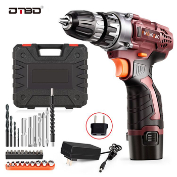DTBD Electric Drill Cordless Screwdriver Lithium Battery Mini Drill Cordless Screwdriver Power Tools Cordless Drill DIY aotuo cordless electric screwdriver lithium battery mini two speed electric drill rechargeable screwdriver home diy electrictool