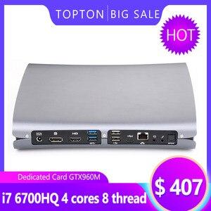 Image 1 - Mini komputer do gier Ultra mały Mini komputer stacjonarny procesor Intel Core i7 6700HQ z dedykowaną kartą GTX960M , HDMI, DP, type c