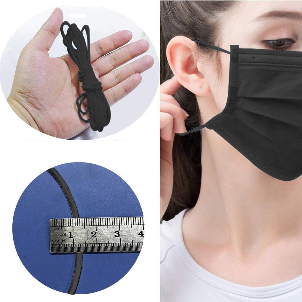 20m 30m Elastic Band Masks White Black High Elastic Flat Rubber