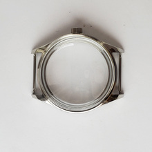 лучшая цена watch case 42mm stainless steel hand winding polished watches case fit for ETA 6497/6498,st3600 movement
