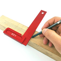 T 200 Woodworking Measuring Tool Aluminum Alloy Square Height Ruler Angle Imperial Square Ruler Scribing Gauge