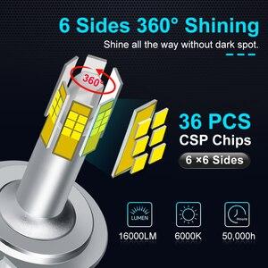 Image 2 - 3D CSP 미니 Canbus H1 H3 H7 H11 HB3 9005 HB4 9006 LED 전구 자동차 헤드 라이트 360 학위 화이트 자동 헤드 램프 터보 LED 조명 12V