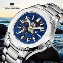 Mens Watches PAGANI DESIGN Fashion Casual 100m Waterproof Mechanical Movement Watch Men Military Hollow Wristwatch Reloj Hombre