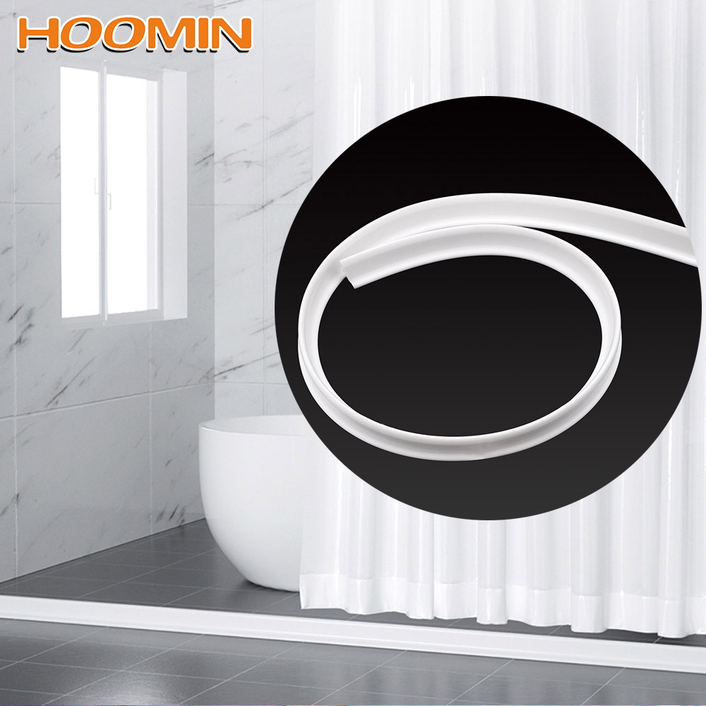 HOOMIN 1m Bathroom Kitchen Water Stopper Floor Partition Strips Dry And Wet Separation  Silicone Water Barriers Flood Barrier