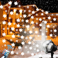 Laser Projector Lamp Moving Snow Snowflake LED Stage Light For Christmas Wedding Party