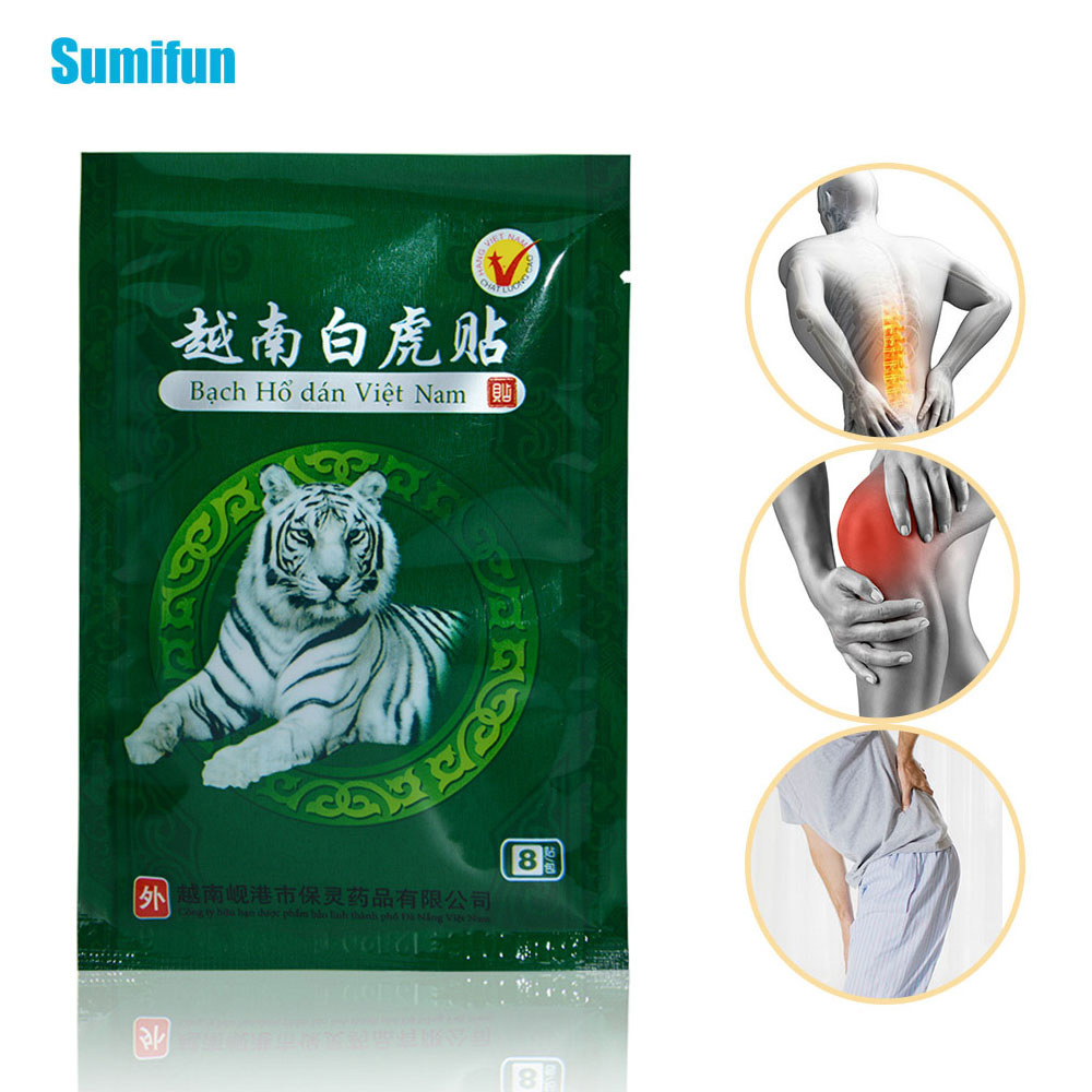 48Pcs Vietnam White Tiger Balm Medical Plaster Rheumatoid Arthritis Joint Pain Relief Neck Back Body Muscle Patches Sticker C069