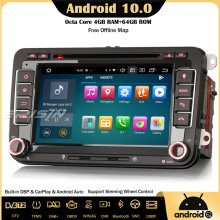 Erisin 8148 8-Core Android 10 DAB+ WiFi CarPlay DSP GPS Car Stereo For VW Golf 5/6 Passat