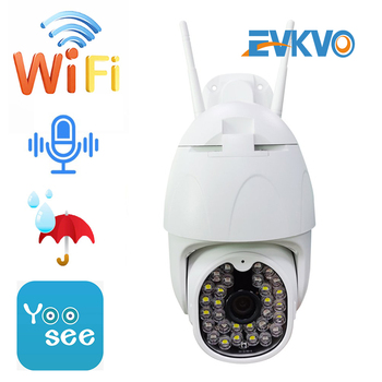 Cámara domo inalámbrica EVKVO 1080P 30 Led Cámara impermeable cámara panorámica 360 adaptador a prueba de agua cámara de vigilancia CCTV Yoosee