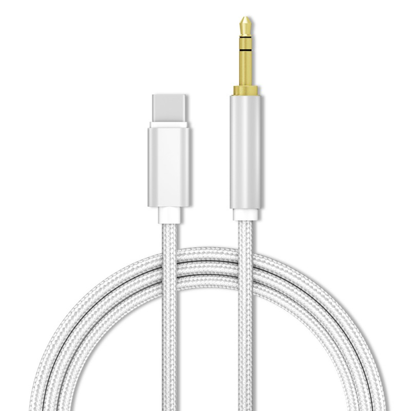 USB Tpye C To 3.5mm AUX Cable Type-C / For Iphone Male To 3.5mm Jack Male Car AUX Audio Adapter For Lightning AUX Cable 1M