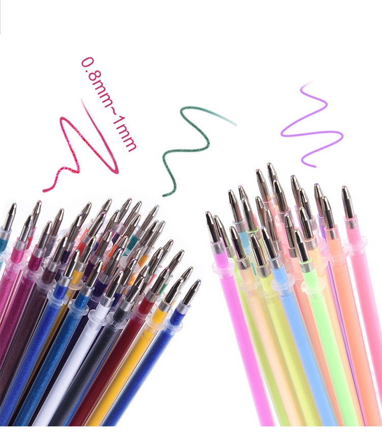 24 Colors Office School Refills Markers Watercolor Gel Pen Painting Writing Tool Replace Supplies Gel Pen Set