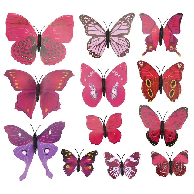 3d butterfly wall stckers wall decors wall art wall.htm css 12pcs 3d novel colorful wall sticker butterfly home decor room  wall sticker butterfly home decor room
