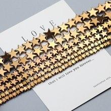 Perles étoiles en hématite de cuivre plaqué, pierre naturelle en forme d'étoile, perles amples pour la fabrication de bijoux Bracelet DIY 4mm 6mm 8mm 10mm