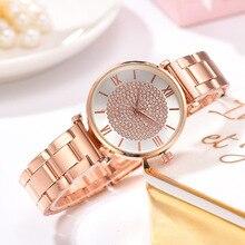 Luxury Women Watch Fashion Rose Gold Bracelet